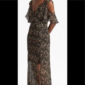 French Connection Floral Cold Shoulder Maxi dress